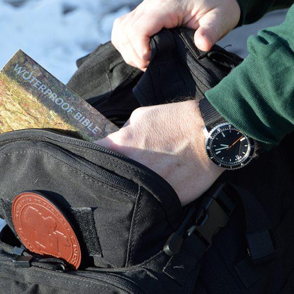 Waterproof Bible leather Christian patch EDC Bushcraft camping hiking