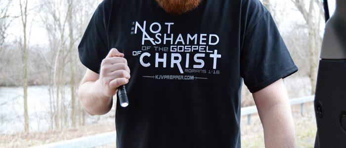 Not ashamed of the Gospel of Christ Jesus Saves Christian Shirt